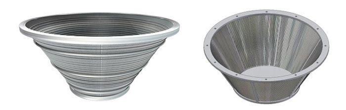 Роторы центрифуг и щелевые сита